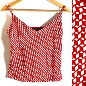 Guess Collection red white lined cami small